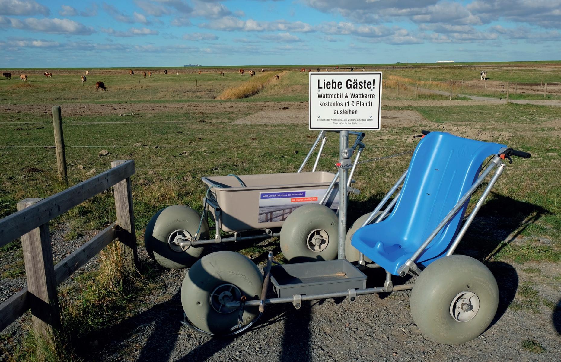 Langwarder Groden: Behindertengerechte Mobilität für den Rundweg © Die Nordsee GmbH, Lutz Bormann