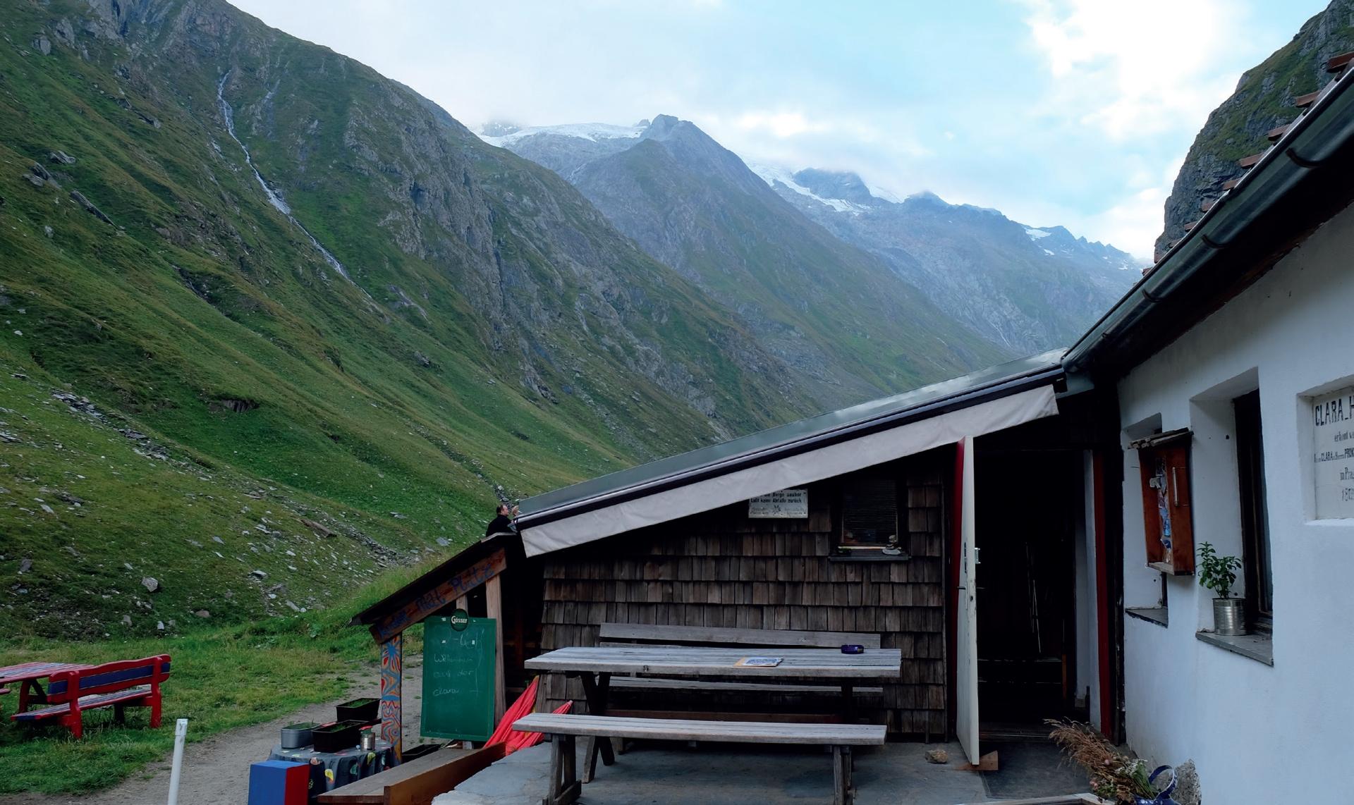 Beliebter Stützpunkt: Clarahütte © Lutz Bormann