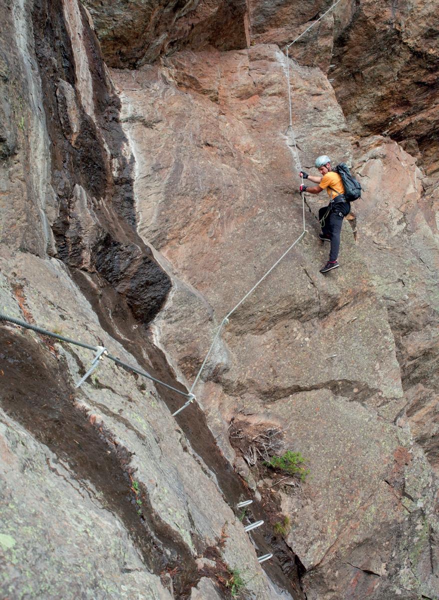 Am Moosalm Klettersteig kann man sein Können testen © Bernd Ritschel