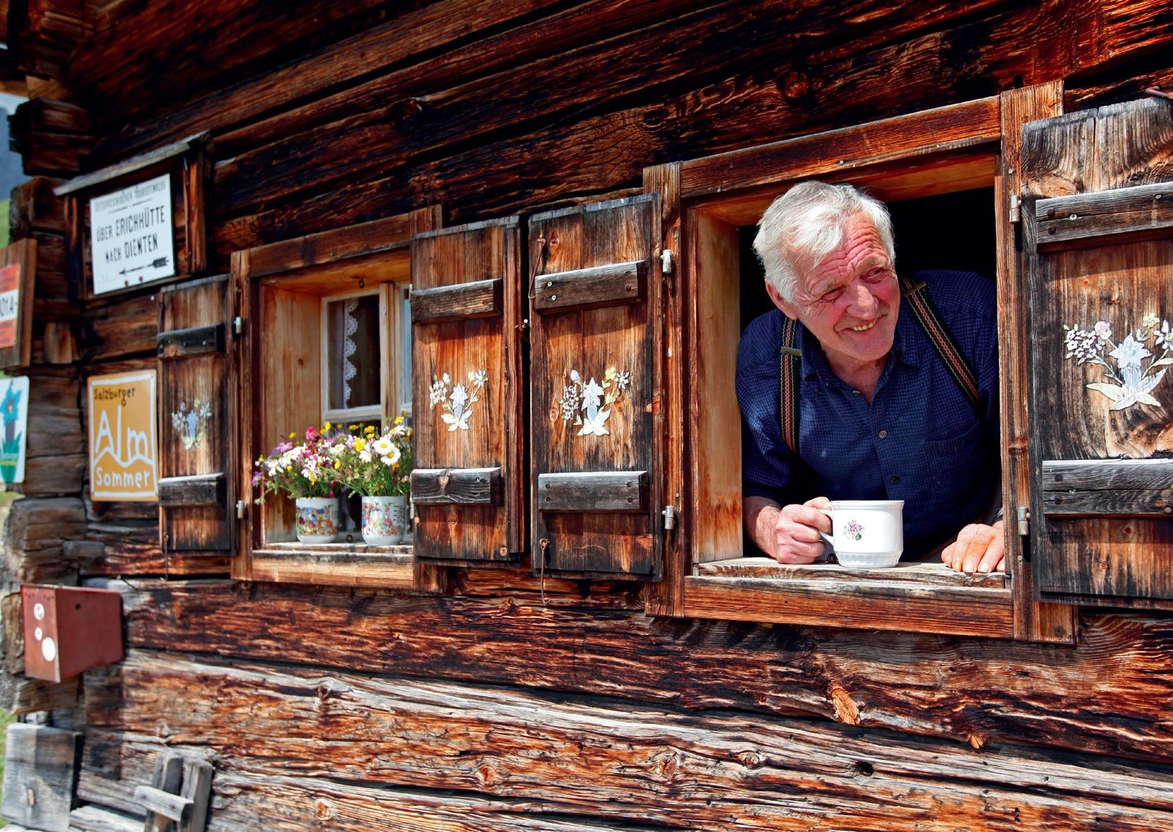 Alm auf der Vier-Hütten-Tour am Hochkönig © Herbert Raffalt