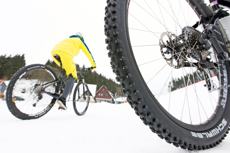 Mtb-Training im Schnee © Archiv Gunnar Fehlau