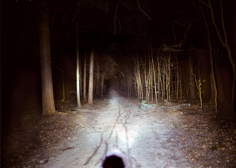 Stirnlampe bei Dunkelheit © Archiv Gunnar Fehlau
