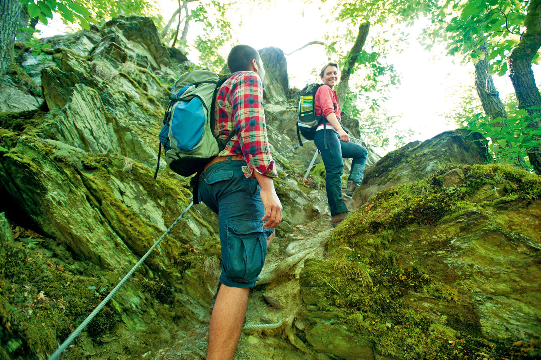 Klettersteig Obernhof am Lahnwanderweg © Rheinland-Pfalz Tourismus GmbH, Dominik Ketz