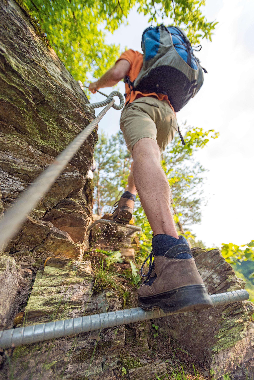 Klettersteigpassage der Traumschleife Layensteig an der Mosel bei Strimmig © Rheinland-Pfalz Tourismus GmbH, Dominik Ketz