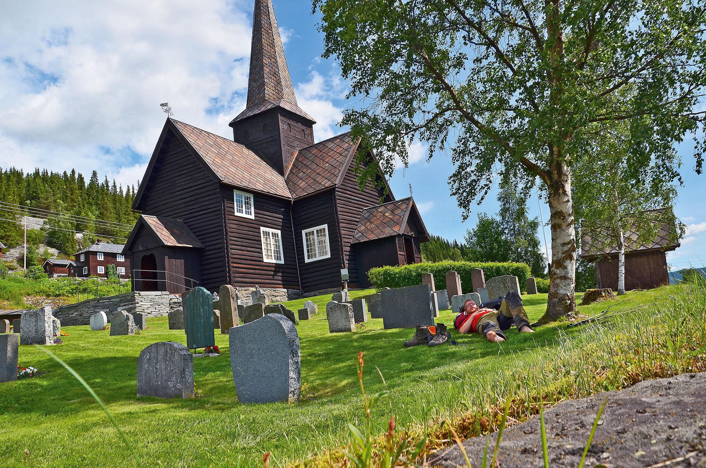 Norwegische Stabkirche © Simon Michalowicz