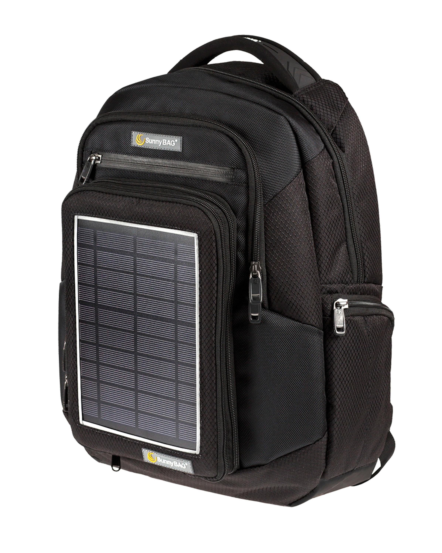 SUNNYBAG EXPLORER 2 Daypack mit integrierter Solarladestation (5 Watt Paneelleistung). © Sunnybag