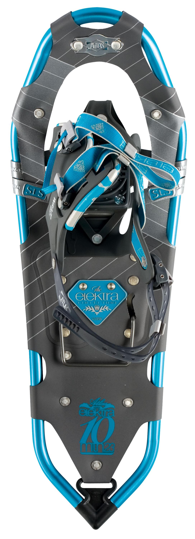 ATLAS ELEKTRA 10 SCHNEESCHUHE Scharfe Krallen, Steighilfe, schnell einzustellende Bindung und hohe Spurtreue für viel Spaß im Tiefschnee. © Atlas