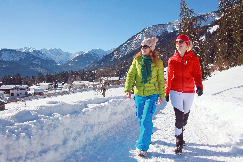 Auf 22 geräumten Winterrouten lassen sich 100 Kilometer erwandern © TVB Naturparkregion Reutte, Gerhard Eisenschink