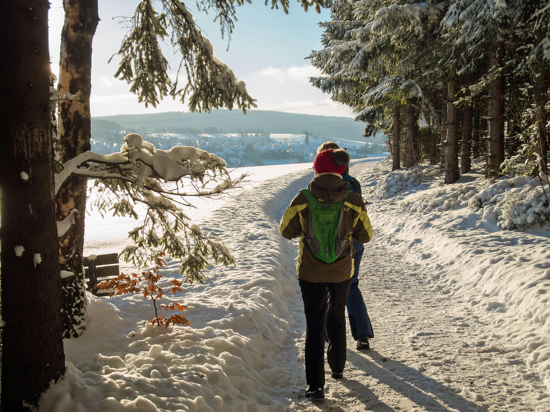 Alles strahlt und glitzert in derklaren Winterluft © Manfred Sieber