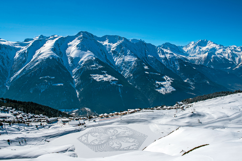 Kunst im Schnee © Aletsch Arena, Karin Bittel