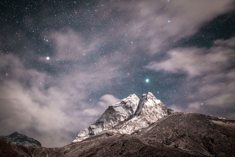 Wunderbarer Nachthimmel in den Alpen © pxhere.com