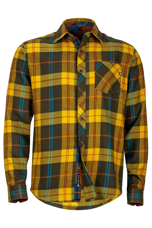 Marmot Anderson Flannel LS Hemd Auf in die Sonne! Mit dem weichen Flanellhemd mit einem Sonnenschutzfaktor von UPF 50  hat man eine Sorge weniger. Das Coolmax-Feuchtigkeitsmanagement sorgt zudem für ein angenehmes Körperklima. 75,00 Euro