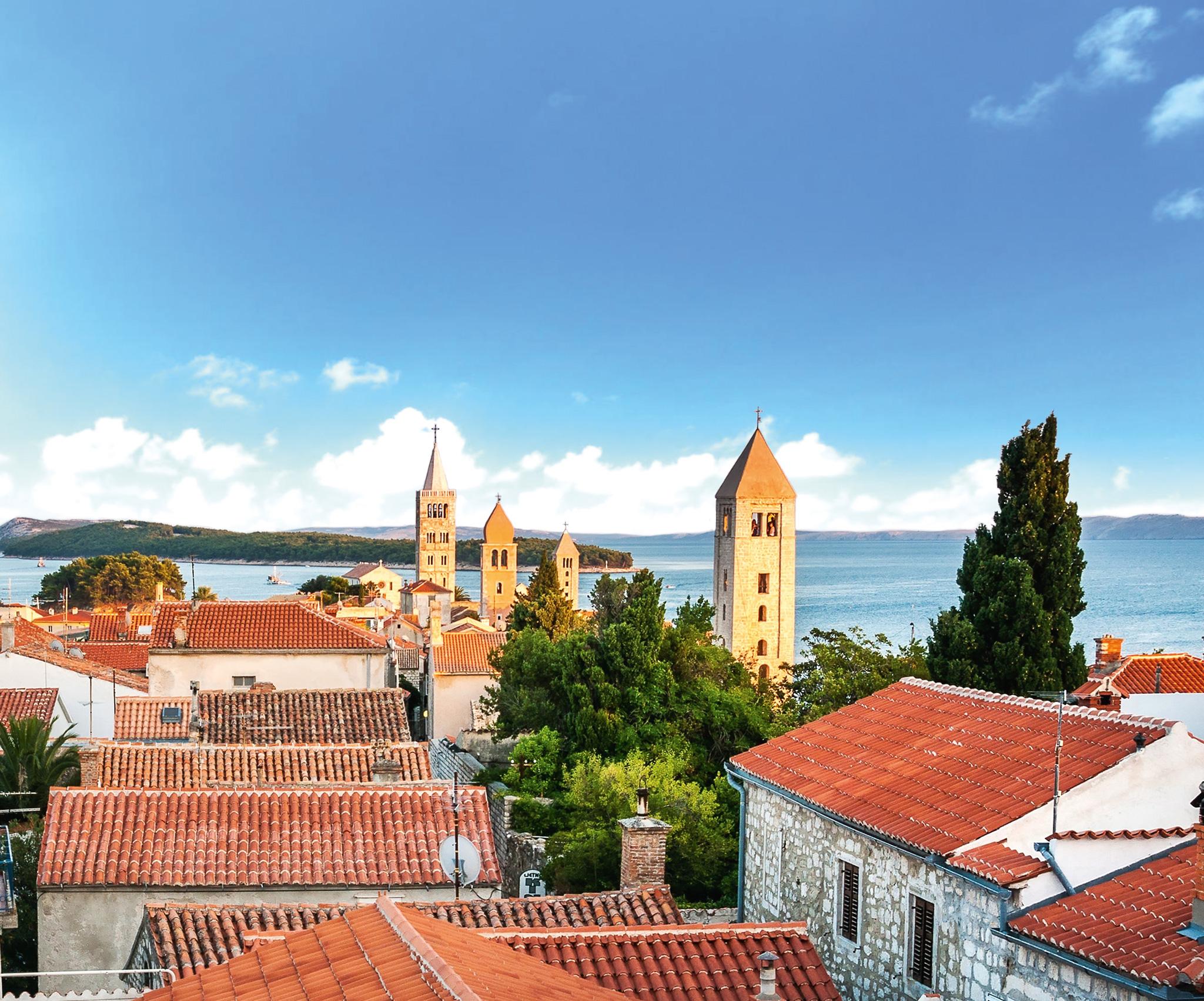 Die pittoreske Altstadt von Rab © Rab Tourism Board