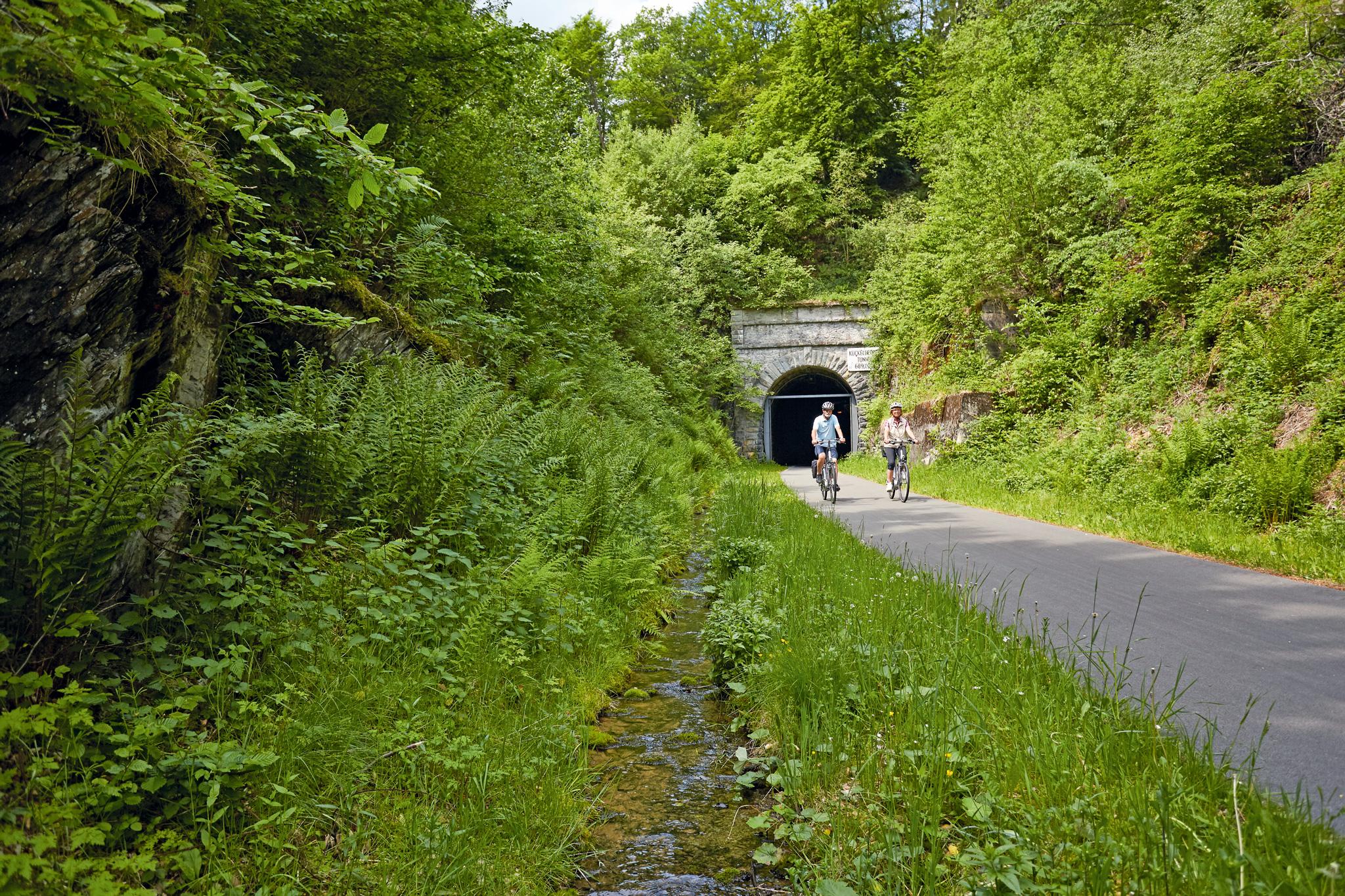Radweg durch den Fledermaustunnel © Sauerland Tourismus, Tanja Evers