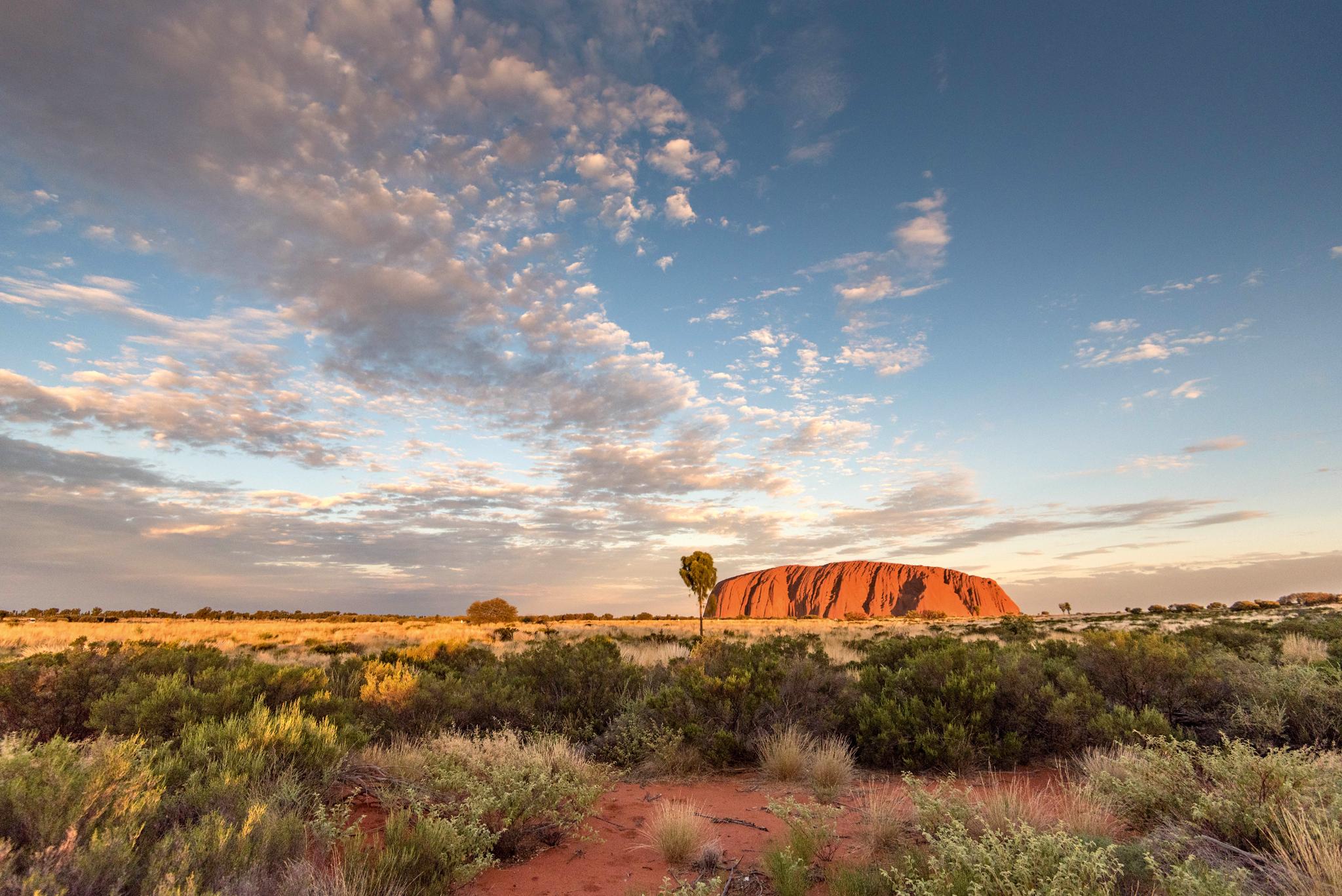 Uluru im zentralen Australien, auch bekannt als Ayers Rock © Intrepid Travel Adventure tours