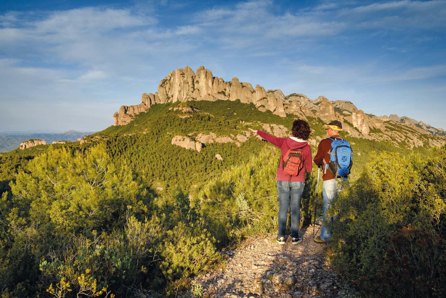 Durch den Naturpark Montserrat führenviele spannende Wanderrouten © S. Boixader