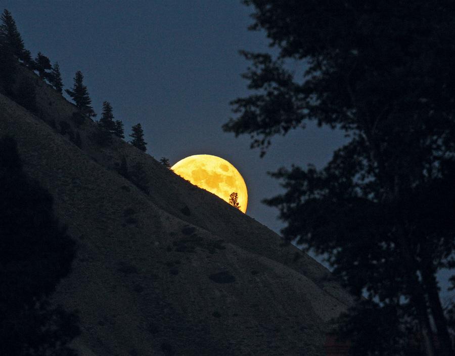 Magischer Moment: Mondaufgang © pxhere.com