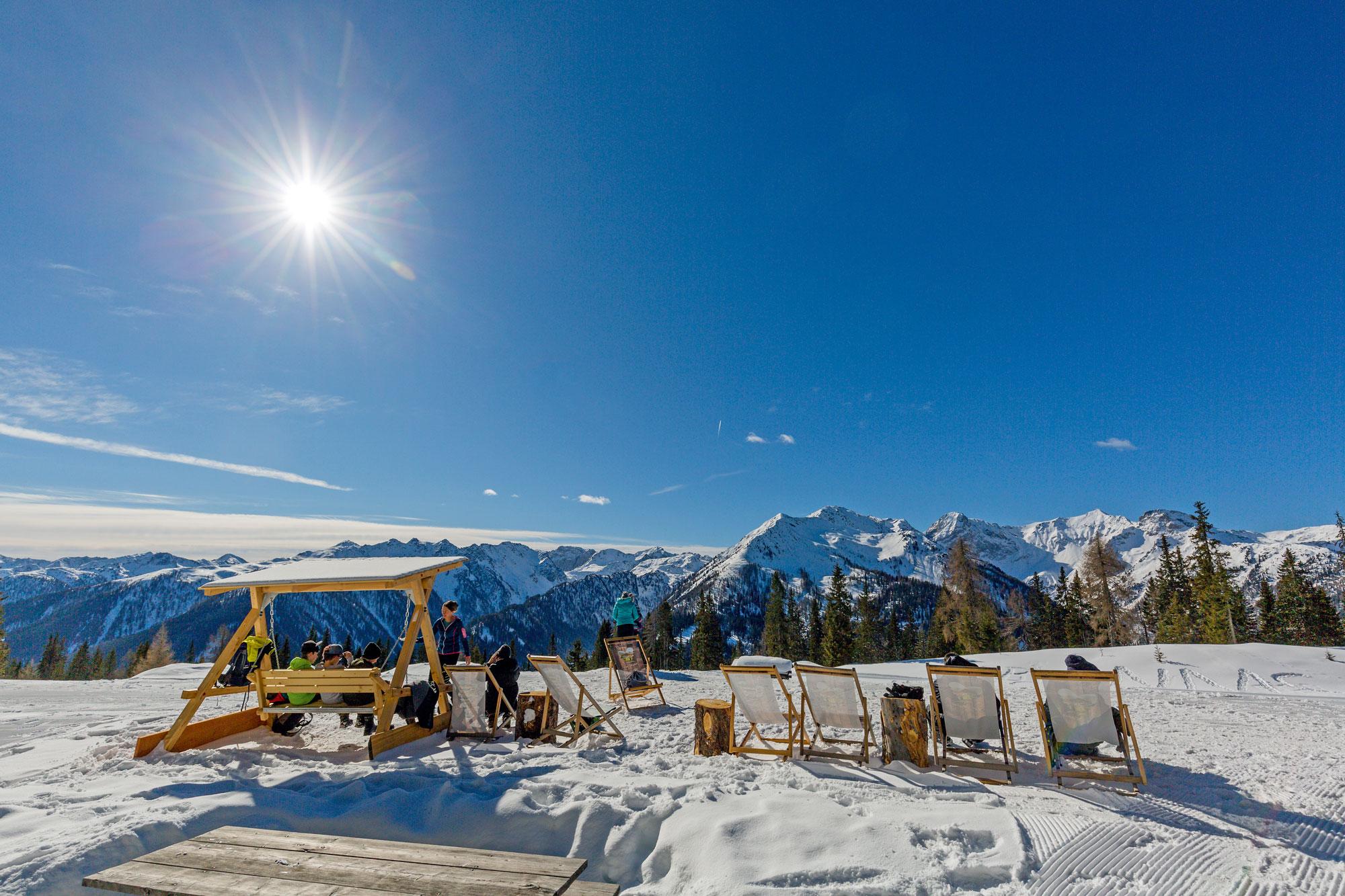Das schönste Open-Air-Panorama zum Genießen: hochalpine Bergkulisse im Winter © Tourismusverband Osttirol, Jean Paul Bardelot