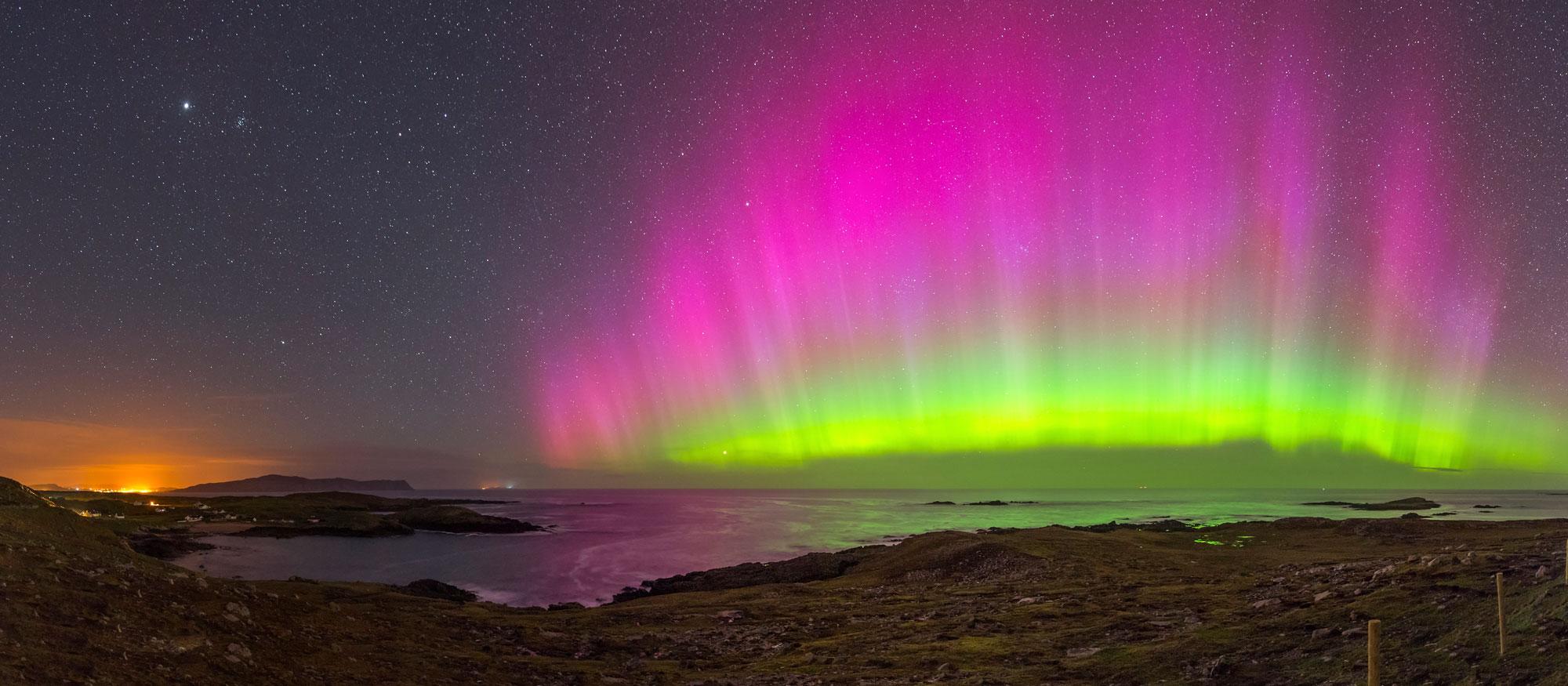Aurora Borealis über Dooey Beach (c) Tourism Ireland