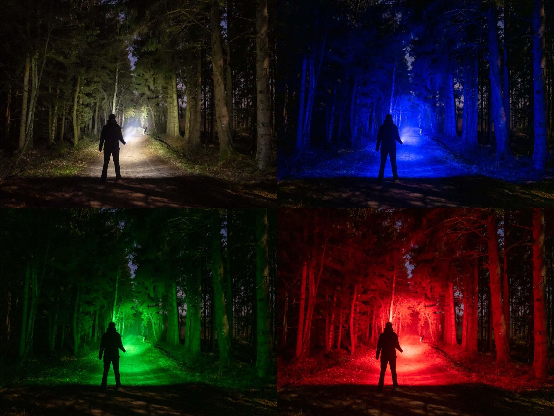 Taschenlampe P6R Core QC mitzusätzlichem Rot-, Grün- und Blaulicht © Ledlenser