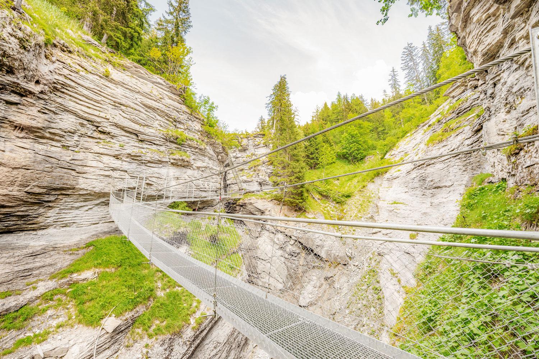 Die Hängebrücke in der Dalaschlucht © My Leukerbad AG