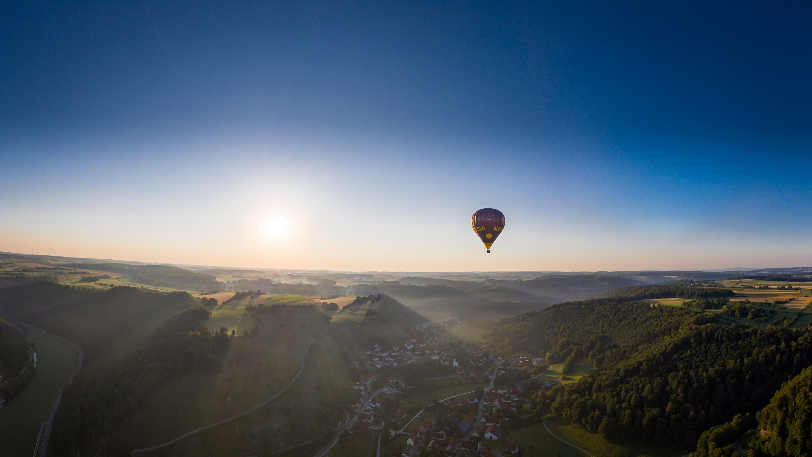 Ballonfahrt über die Schwäbische Alb ©  TMBW / Dietmar Denger