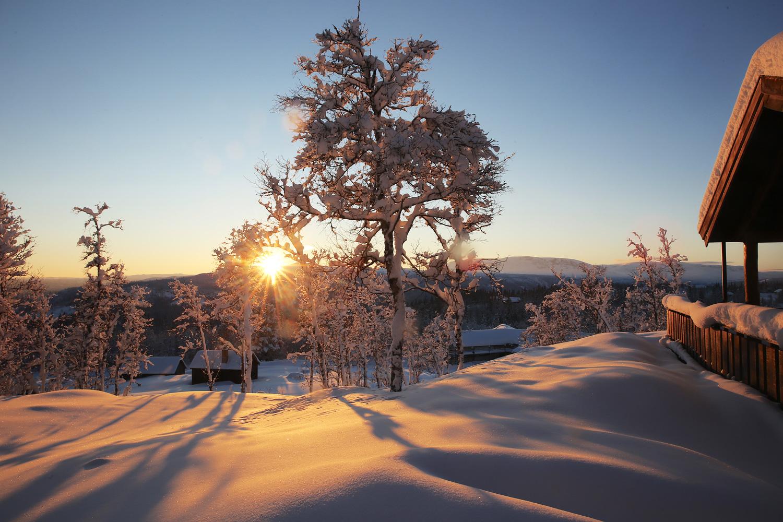 Sonnenuntergang im Winterwunderland