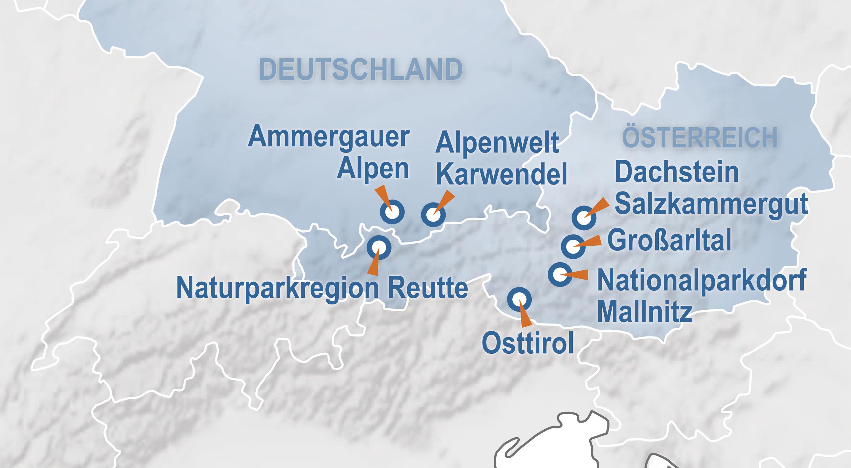 Die teilnehmenden Best of Winter-Regionen