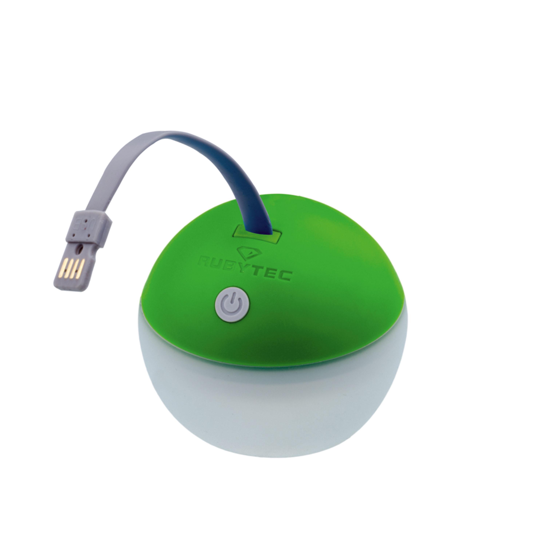 Rubytec Bulb USB Lampe Runde Sache! Die Lampe für unterwegs – ob im Park, Garten, auf Tour im Zelt. Durch USB aufladbar, keine lästigen und umweltschädlichen Batterien, drei Helligkeitsstufen und schöne runde Form. 19,95 Euro