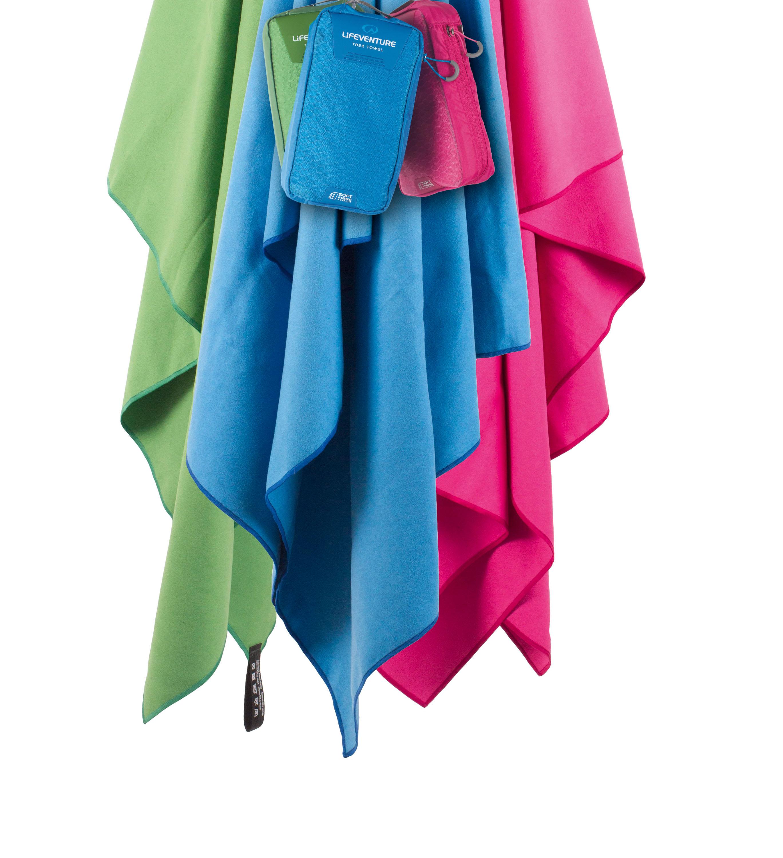 Lifeventure MF Travel Towel Nur nicht das Handtuch schmeißen! 110 x 65 reichen für jede Tour. Bei 220 Gramm und einem Packmaß von 15 x 9 x 7 hat man immer sein eigenes Handtuch dabei. Saugt 6x das Eigengewicht an Nässe auf und trocknet ganz fix. 26,95 Euro