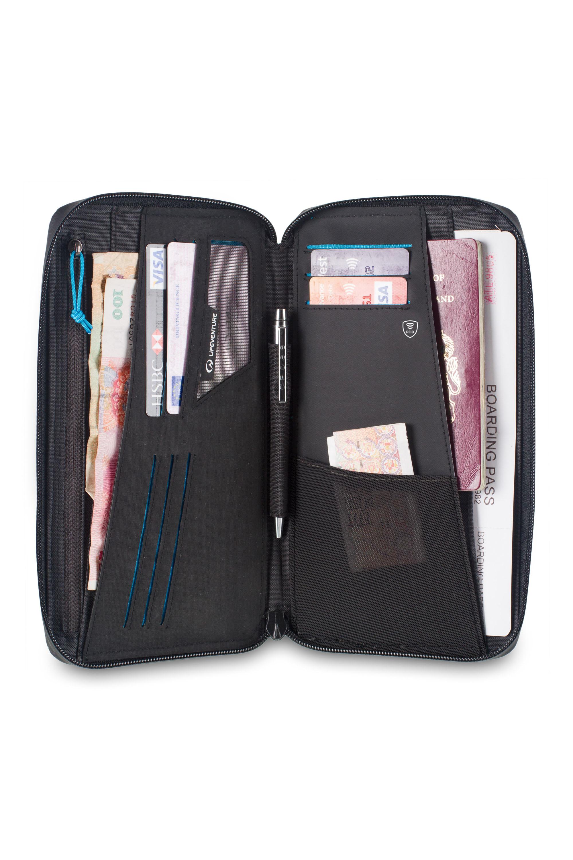 Lifeventure RFID Document Wallet Sicher ist sicher! Langfinger sind nicht nur scharf auf Bares. Datenverluste können noch mehr Schaden anrichten, als ein paar Scheine zu verlieren. Der RFID-Blocker in dem Wallet schützt Kredit- und EC-Karten vor Datenklau. 29,99 Euro