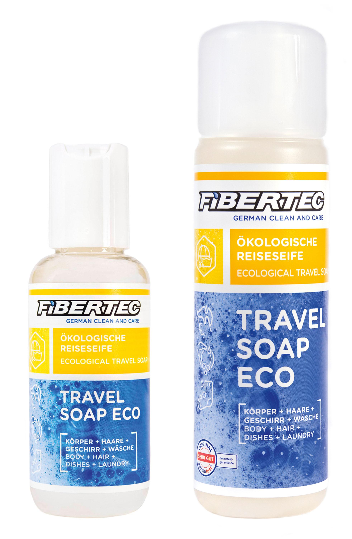 ibertec Travel Soap Umweltfreundlich! Die Reiseseife, mit der man sich auch in der Natur waschen kann, ohne Schaum und Schadstoffe zu hinterlassen. Dermatologisch getestet, hautfreundlich und funktioniert auch in Salzwasser. 100 ml 3,95 Euro; 250 ml 7,95 Euro