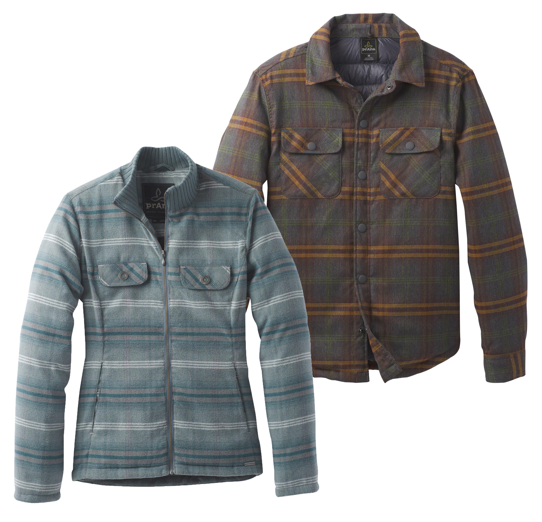 Prana Collage Showdown Jacket Showdown am College. Warmes Hemd oder Jacke? Ein Shaket, also von jedem das Beste. Lässige Optik, warme Daunenfüllung aus artgerechter Haltung und teilrecyceltes und bluesign-zertifiziertes Material. 99,95 Euro