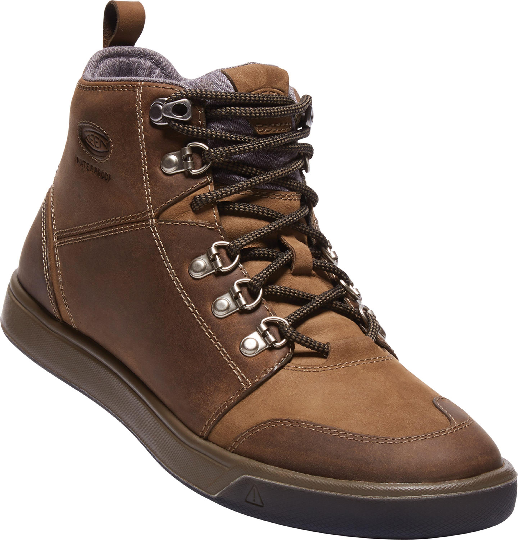 Keen Winterhaven Boot WP Smarter Streetwalker! Ein Wanderschuh in Sneakerform. Absatzfreie Laufsohle, Mid-Cut-Lederschaft, warmes Futter und wasserdicht. Das Winterwetter kann egal sein, man kommtimmer gut durch den Alltag – zumindest warmen und trockenen Fußes. 149,95 Euro