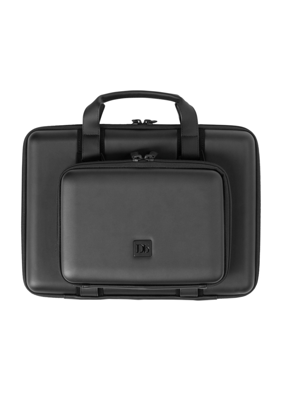 """Douchebags The Hacker 15"""" Begeisterung beim CCC! Eine lässige Tasche für den Computerfreak, der mobile, bis zu 15"""", Rechner schützt. Vorteil gegenüber den herkömmlichen Laptoptaschen: Auch die Kabel, die Maus oder Akkus findenhier in der aufgesetzten Tasche Platz. Glänzendes PU-Leder. 159,00 Euro"""