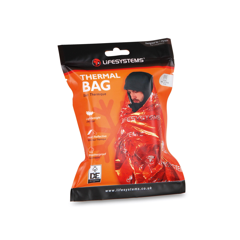 Lifesystems Thermal Bag Lebensretter! Wie viel Energie ein Mars dem Körper zurückgibt, ist unerforscht. Dieser isolierende Rettungssack im Hosentaschen-Packmaß reflektiert über 90% der Körperwärme zurück. Zusätzlich ist er noch absolut wasserdicht. Bei 180 Gramm ist der damit ein Pflichtprodukt. 13,99 Euro