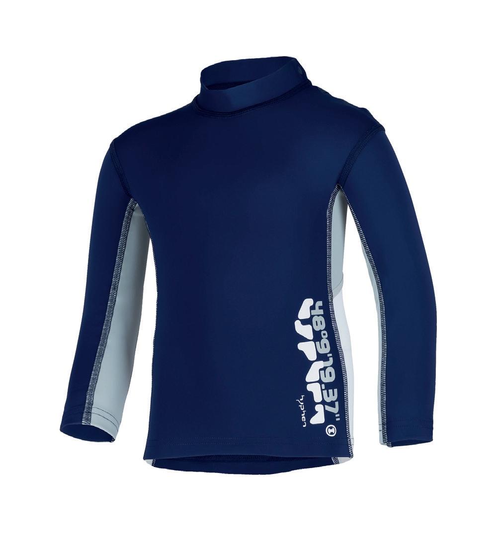 12 – Hyphen UV-Schutz Langarm-Shirt Cool Blue Iris